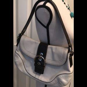 Coach cream/brown Soho Buckle Flap Bag